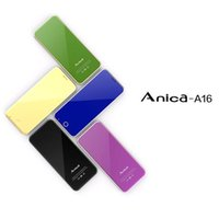 Wholesale Dual Sim Phone Luxury - Anica A16 Mini Card Phone Children Mobile Phone Ultrathin Luxury 1.63 inch credit card cell phone dual sim card