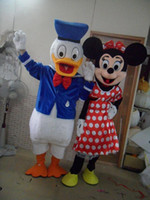 Wholesale Donald Duck Mascot Costumes - New Group Mascot Costume Donald Duck and Minnie Cartoon Perfoming Costume