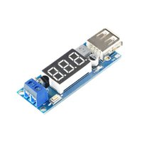 Wholesale Usb Step Down 12v 5v - Step down Buck Power Supply Module Converter LED Digital Voltmeter Display USB Charger DC 12V 5V 2A Mobile Phone Charger Vehicle Voltmeter