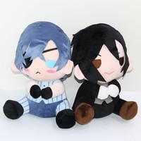 Wholesale anime toys black butler online - Hot Sale style quot cm Nime Black Butler Kuroshitsuji Ciel Sebastian Michaelis Plush Doll Stuffed Toys
