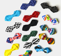 Wholesale Self Tie Bow Ties Wholesale - Fashion Bowtie Adjustable Self Tie Bow Ties For Kids Boy Printed Tie Holiday Party Dress up Toddler Bowties