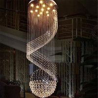 Wholesale Down Halogen - New Modern K9 Clear Crystal Ceiling Light Pendant Lamp Chandelier Light Indoor Lighting LED Ceiling Light Living Room Corridor Chandeliers