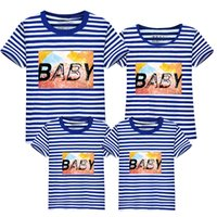 Baby Kinder Kleidung Familie Matching Outfits 2017 Sommer Tops plus Größe Daddy Mutter und Tochter Kleidung Familie Kleidung Set T-Shirts # LD10011