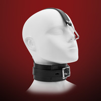 Wholesale Leather Nose Hook - Leather Sex Slave Collar with Nose Hook, Fetish bdsm Bondage Restraints, Erotic Toys Sex Toys for Couples, Sex Products