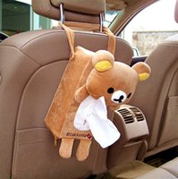 Vente en gros - Soft Peluche ours Rilakkuma Tissue Box Cover Car Accessories Home Decor Gift