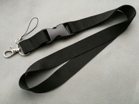 Wholesale Mobile Lanyards - Popular Lanyard ID Holder mobile Phone Neck charm Strap free delivery Black fukuan YY-042