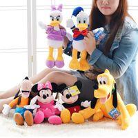 Wholesale Cute Donald Duck Plush - 7 styles 40cm Mickey Mouse Minnie Mouse Donald Duck Daisy Cute Goofy Dog Pluto Dog Plush Toys Kawaii Stuffed Toys Children Gift