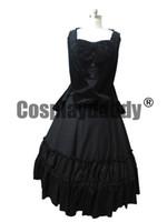 bürgerkrieg kleid xxl großhandel-Bürgerkrieg viktorianischen Samt Kleid formale Zeitraum Theatrical Black Lolita Kleid Kosten