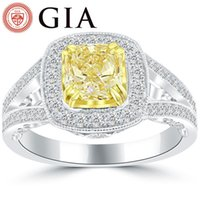 Wholesale Natural Diamond Ring Ct - 2.25 Ct. GIA Certified Natural Fancy Yellow Cushion Cut Diamond Engagement Ring