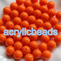 Wholesale China Plastic Beads - China Cheap 30PCS 18MM Solid Opaque Spacer Bubblegum Balls Plastic Spacer Bracelet Beads for Jewelry Making