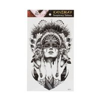 Wholesale Exotic Body Stickers - Wholesale- Ancient women keep the tears Size 22 x 12cm Body Art tatoo Temporary Tattoo Exotic Sexy Henna Tattoo Tattoo Stickers 2016 New