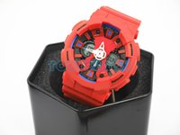 Wholesale Led Wholsale - Luxury top quality relogio G120 tin box men's sports watches,popular men watch LED all pointers work 3ATM water resistant wholsale