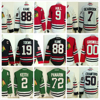 Acheter Série de hockey-Chicago Blackhawks 2016 Stadium Series 88 Kane White Ice Winter Jersey Jerseys de hockey bon marché Authentic Stitched Taille d'expédition gratuite 48-56