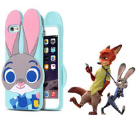 Wholesale Character Cases Iphone Silicone - Zootopia 3D Cartoon Character Cute Judy Soft Silicone Case For Iphone 7 6 6s Plus Samsung Galaxy S7 S6 Edge Huawei OPPBAG
