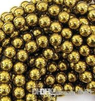 Wholesale i341 mm Good Gold Hematite Loose ball Beads Shamballa Findings Fit DIY Bracelet Bead for bracelet hotsale DIY Findings Jewelry e2521 w62