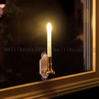 Wholesale Window Candles Led - Solar Powered Led Bulb Lamp Solar Candle With Panel Indoor Decorative Lighting On Window Fashion Flick Candles 2 Modes BeTwinkle MYY
