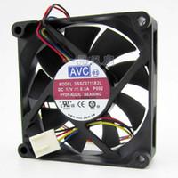 avc 12v dc fan großhandel-AVC DSSC0715R2L, P002 DC 12V 0.3A 4-poliger 4-poliger Stecker 100mm 70x70x15mm Server Quadratischer Lüfter