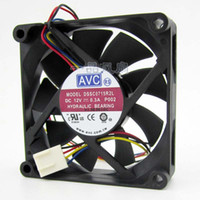 ingrosso ventilatore avc 12v dc-AVC DSSC0715R2L, P002 DC 12V 0.3A Connettore 4-fili 4-pin 100mm 70x70x15mm Server Square Ventola di raffreddamento
