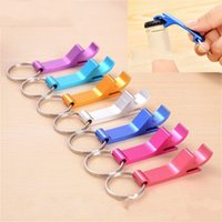 Wholesale metal cans lids - 0 39wk Creative Key Chain Bottles Opener Beer Board PK Lid Openers Metal Can Tin Open Tools Eco Friendly Corkscrew Simple Operation