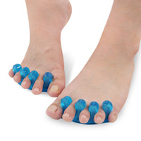 Wholesale Toe Separator Finger Spacer - Silicone Toe Separators Finger Spacer For Nail Art Tools Manicure Pedicure Flexible Soft Silica Toe Separator Corrector 1lot=2pcs=1pair