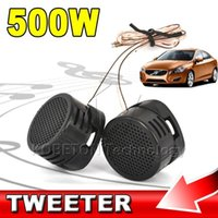 Großhandel - Universal High Efficiency 2x / lot 500W Auto Mini Dome Tweeter Lautsprecher Lautsprecher Lautsprecher Super Power Audio Auto Sound Klaxon Tone