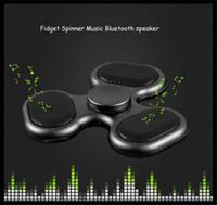 Wholesale Bear Speakers - popular fashion fidget spinner audio LED Bluetooth speaker 608 Bearing Tri fingertip spinner Fidget Hand Spinner LED flashing
