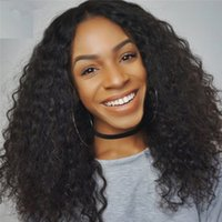Wholesale Long Glamorous Wigs - Glamorous Full Lace Wigs Kinky Curly Brazilian Hair Wig Lace Front Human Hair Wigs for black women