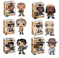 Wholesale Pop Figures - Funko Pop the Walking Dead PVC Action figure Daryl Michonne Kids Toys Prison Glenn Rhee Carol Hershe Negan Good quality Gift