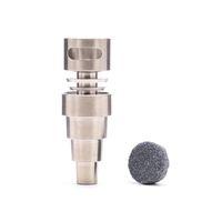 18mm titanyum banger çivi toptan satış-Yeni Kubbesiz titanyum tırnak dab rig titanyum tırnak kuvars banger çivi su bong boruları için 6 in 1 10mm 14mm 18mm bongs