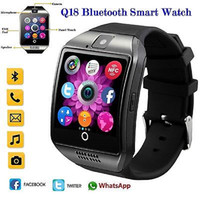 Wholesale mobile home screens - Snzvok Smart Watch Q18 With Touch Screen Camera TF Card Bluetooth Smartwatch For Android For iOS Mobile Phone Smart Watch
