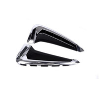 Wholesale Chrome Trims - Car Door Both Side Panel decoration decals 2pcs for BMW X5 F15 2014-17 Chrome ABS Fender Trim Strips Car styling