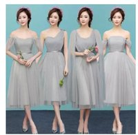 Wholesale Wholesale Lace Bridesmaid Dresses - 2017 New fashion bridesmaid dresses short design toast bride chiffon dinner dress costume bridesmaid dress vestido madrinha