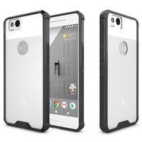 Wholesale Xl Phone Cases - For Google Pixel 2 Case Transparent Clear Hybrid Bumper Shockproof Back Cover Phone Accessories For Google Pixel 2 Google Pixel XL 2