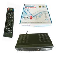 Wholesale Dongle Iks - Wholesale-Digital HD Satellite DVB-T2 DVB-S2 combo TV Receiver Support IPTV YouTube CCCAM IKS Bisskey WIFI Dongle DVB T2 USB TV Tuner