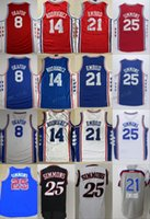Wholesale Stars Shirts - 2017 Basketball Jerseys 25 Ben Simmons 21 Joel Embiid All-Star 8 Jahlil Okafor 14 Sergio Rodriguez Blue Stitched Shirts Basketball Jersey