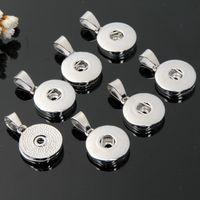 mini botones a presión noosa al por mayor-Noosa 12 MM 18 MM Encantos del botón Encaja Aleación Intercambiable Mini jengibre Snap colgante Fit pulseras Collares Joyería de moda Barato al por mayor