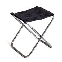Wholesale Outdoor Aluminium Chair - Wholesale- 2017 Outdoor Aluminium Alloy Fishing Chair Portable Folding Stool Camping Hiking Sketching Picnic High Quality H199