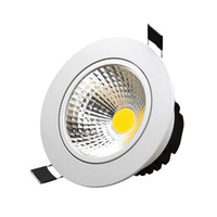 Lumières Moulées Led Gradateurs Programmables Pas Cher-High Power COB Led Downlights AC85-265V 9W 12W 15W 18W 21W Gradable / Non réglable Warm Cool White Down Lights avec des pilotes de puissance
