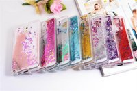 Wholesale S4 Quicksand Case - Floating glitter Heart Running Quicksand Liquid Dynamic Hard Case phone case clear shining Cover For Samsung S4 5 6 s6edge Note2 3 4 5 A7 A5