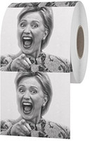 Wholesale funny napkins resale online - Hillary Clinton Toilet Paper Creative Hot Selling Tissue Funny Gag Joke Gift per set