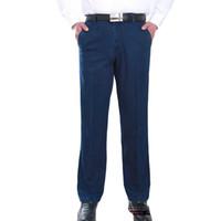 yeni renkler kot erkekler toptan satış-Toptan-İlkbahar Yaz Yeni Styme Erkekler Kot Iki Renk Mlae Pantolon Düz Orta Bel Tam Boy Loos Rahat Aşınma Büyük Boy