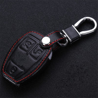 Wholesale Benz Key Leather - New Leather Car Key Cover For Mercedes-Benz GLK300 CLA200 ML350 S Class E260L C200 Etc High quality Free Shipping