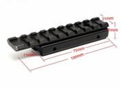 Wholesale Rifle Scope 11mm - 10cm Aluminum Alloy Dovetail Hunting Rifle Air Gun 11mm to 20mm Base Adapter Weaver Picatinny Rail Mount Scope Extent Mount