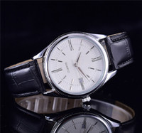 Wholesale watch straps for sale - 2017 Top sales Leather strap AAA quality luxury brand automatic quartz watch date men's fashion leisure sports watches for men and women