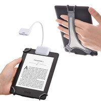 kitap okuyucu ışıkları toptan satış-TFY Clip-on LED Okuma Işığı 2 Seviyeli Tabletler için Lümen Yoğunluğu ile, Kitaplar Artı Bonus El Kayışı Tutucu 6 inç Kindle e-okuyucular için