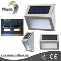 Wholesale Wall Mounting Solar Led Light - Decorative Outdoor 12v Powerful Wall Mounted Solar LED Garden light for Courtyard Stairways