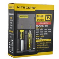 Wholesale Wholesale Intelligent Charger - Nitecore I2 Intellicharger Universal Intelligent Charger For 18650 14500 26650 Li-ion IMR LiFePO4 E Cigarette Battery