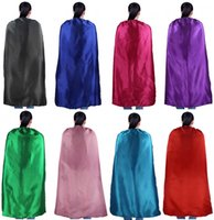 Wholesale Satin Capes Wholesale - PLAIN COLOR 70*120cm single satin costume Halloween Cosplay Adult Capes Customize Team Building Promotional