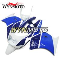 обтекатель 1989 года оптовых-Обтекатели для Suzuki RGV250 VJ21 88-89 1988 1989 год ABS пластик мотоцикл обтекатели рамы панели белый синий кузова рамы новый
