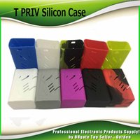 Wholesale Mod Bags - Newest Colorful Silicon Case Protective Skin Sleeve Bag Wrap For Smok T-priv 220W Box Mod T Priv Starter Kits IN Stock 0213180